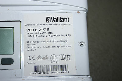 Vaillant VED E 21/7 E LCD DISPLAY