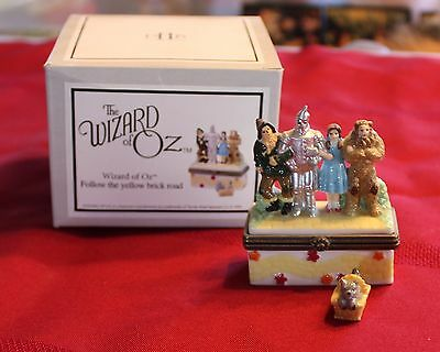 "PHB Collection Hinged Box Wizard of Oz Follow the Yellow Brick Road ""To Oz"" 1999"