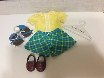 American Girl Doll Molly's Rollerskating Outfit with TLC Roller Skates VHTF!