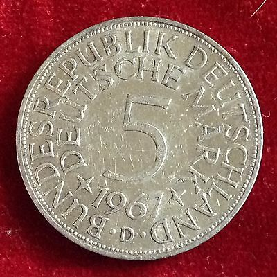 1967 D   Germany 5 Mark Silver Coin
