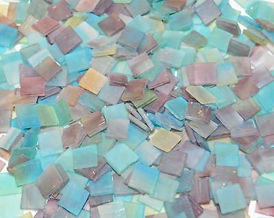 """100 1/2"""" Catalina Blue Stained Glass Mosaic Tiles"""