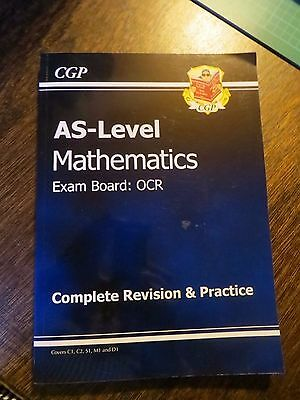 CGP AS level Maths Complete Revision and Practice Book Exam Board OCR