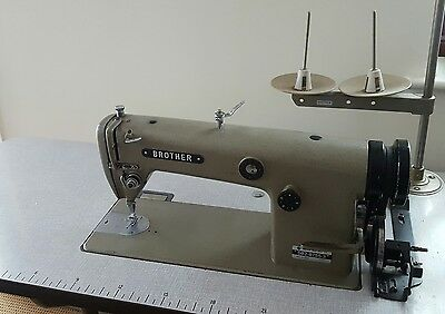 Brother DB2-B755-3 industrial sewing machine with table