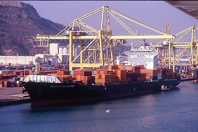 35mm SLIDE OF THE HONG KONG REGISTERED CONTAINER SHIP  SEASPAN FELIXSTOWE