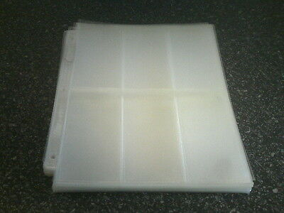 36 x ULTRA PRO Platinum A4 Widevision - 3 Hole - 6 Pocket Trading Card Sleeves.