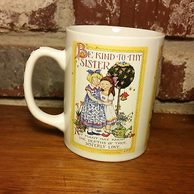 """Mary Engelbreit """"Be Kind To Thy Sister"""" Mug, 4"""", Excellent"""