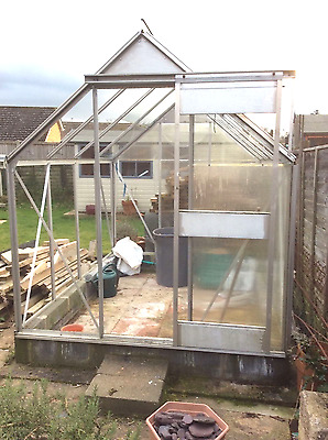 8ft x 6ft Aluminium frame greenhouse