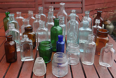 33 VICTORIAN:EDWARDIAN ANTIQUE UTILITY BOTTLES 1890:1920s WEDDING DISPLAY FAVORS