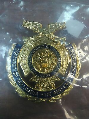 DC Inaugeration Badge 2001 Fire EMS Collinson USA badges