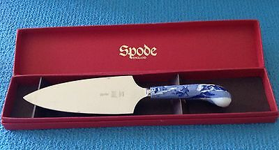 Spode Blue Italian Cake Slice  In Box - Damaged