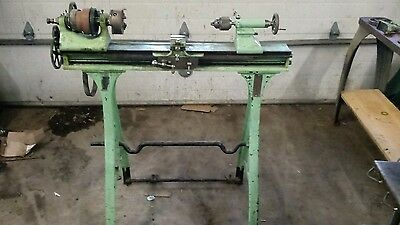 1887 antique treadle lathe barnes 4 1/2 with tooling excellent vintage cond.