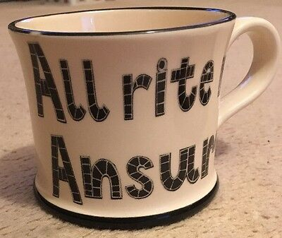 """Moorland Pottery - Kernow Ware """"ALL RITE ME ANSUM"""" made for Cornish Folk ��"""