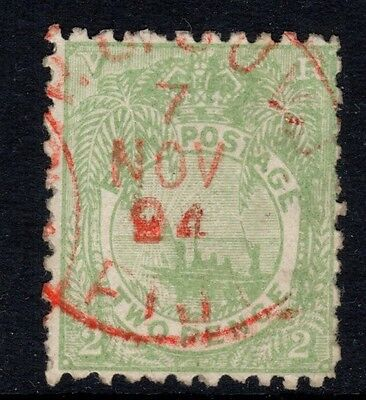 Fiji stamps - Sg102 -  2d dull green -  good used.