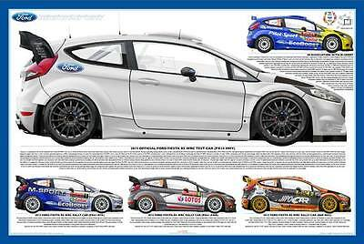 Ford Fiesta RS WRC 2016 Test Car Poster