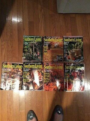 LOT of 8 - SOUTHERN LIVING MAGAZINES - 1991-1995 HOME AND GARDEN