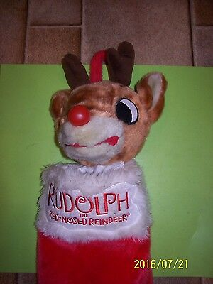 Gemmy Rudolph The Red-Nosed Reindeer Stocking - Sings And Nose Lights Up