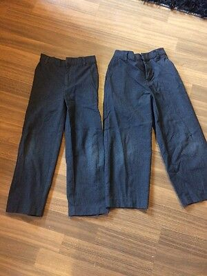 Two Grey Boys School Trousers Age 6