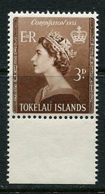 Tokelau Islands: 1953 Coronation 3d stamp SG 4 MNH  AB084