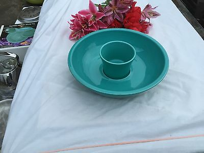 FIESTA NEW Turquoise CHIP & DIP BOWLS  Fiestaware