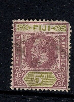 Fiji stamps - Sg236, 5d dull purple & sage-green, - used