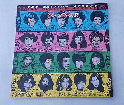 The Rolling Stones 'Some Girls' LP -  Rare  First UK Pressing. Ex.