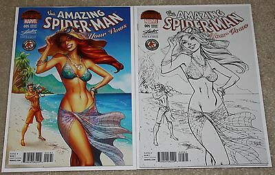 Amazing Spider-Man Renew Your Vows 5 Campbell Hawaii Con Color & Sketch Variant