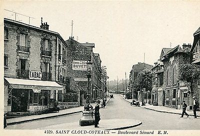 LOT de 2 Cartes SAINT CLOUD Côteaux Boulevard Sénard Side Car Moto et Chapelle