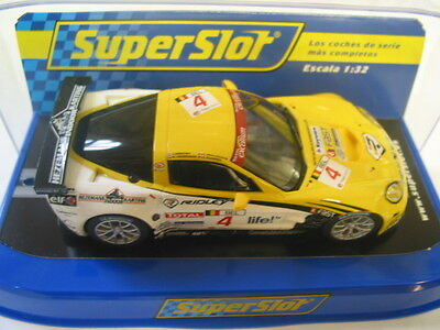 Scalextric C3390 Chevrolet Corvette C6R #4 Working Lights New Dpr Superslot Box