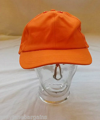 Job Lot x 25 Orange Baseball Caps Hats 100% Cotton Adjustable Velcro By JSP NEW