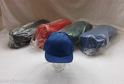 Job Lot x 100 Baseball Caps 100% Cotton Mixed Colours Adjustable Velcro By JSP
