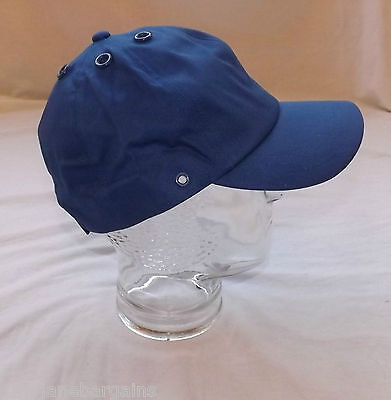 Job Lot x 100 Royal Blue Baseball Caps Hats Cotton Adjustable Velcro By JSP NEW