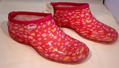 Briers Ladies Gardening Clogs Shoes Pink Daisy UK 4 BRAND NEW