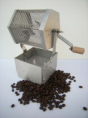 Compact Home Manual Stainless Steel Coffee Bean Roaster