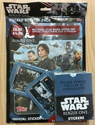 Star Wars Rouge One Stickers Full Box & Sticker Starter Pack