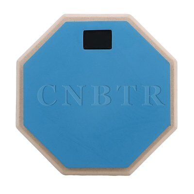 8 inch 2-Sided Blue & Black Rubber Dumb Drum Practice Pad Accessories