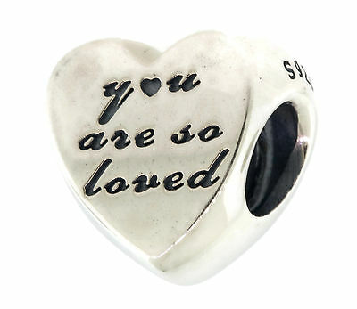Authentic PANDORA You Are So Loved Charm in 925 Sterling Silver, 791730