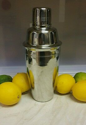 Stainless steel cocktail shaker. New.
