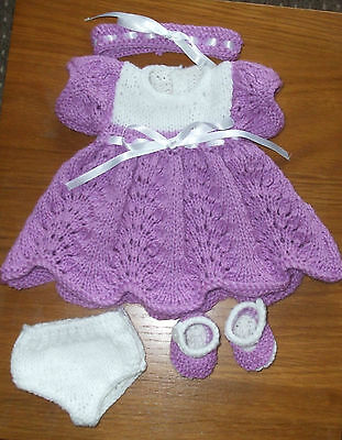Hand Knitted  Dolls   Outfit To Fit Approx 12/13 Inch Doll