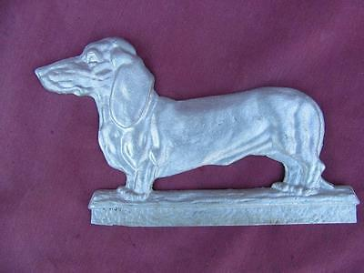 Circa 1930 S Basset Hound Solid Aluminum Display 9 By 6 Inches Excellent
