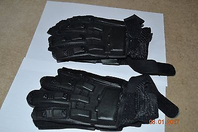 DELTA FORCE Paintball Full Finger Armoured Plastic Gloves - 2 pairs - Size L