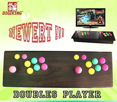Newest Wood Double Stick Arcade Console 2000 + Video Games - 2 Players HDMI -DHL