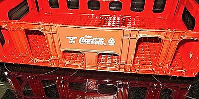 "Vintage Red Plastic Coca-Cola Coke Stacking Bottle Case Crate 18.5' X 12.5"" x 5"