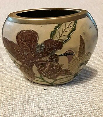 lacquered vase from India