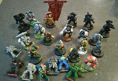 warhammer 40k space marine lot? mixed. Bundle. Inc banner guy. 25+ pieces