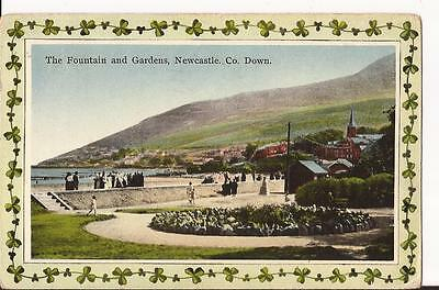 The Fountain and Gardens, Newcastle, County Down Postcard