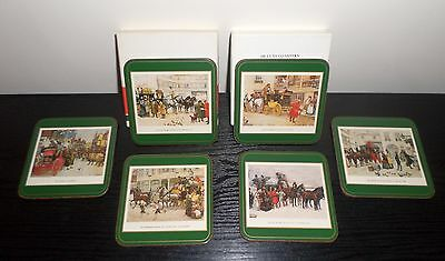 Pimpernel Dickensian Scenes set of 6 Vintage Deluxe Finish coasters