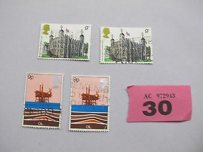 Oil stamps Tower of London 9p UK British Postage stamps VARIED LOT