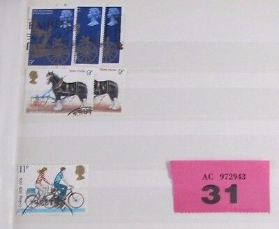 Shire Horse 9p 1978 Cycling  25th Coronation British Postage stamps VARIED LOT