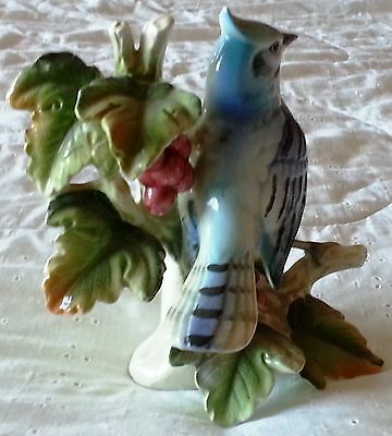 Collector's Blue Jay Figurine Hand Made & Painted in Japan..