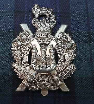 QVC. Pagri Badge. The King's Own Scottish Borderers. (see description).